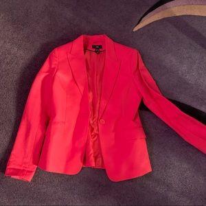H&Mred blazer size 10